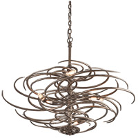 Troy Lighting Revolution 6 Light Pendant in Revolution Bronze F3676