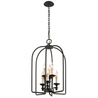 Troy Lighting Chesapeake 6 Light Pendant in Forged Bronze F3695