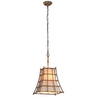 Troy Lighting Left Bank 3 Light Pendant in Coastal Rust F3783