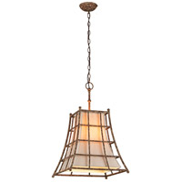 Troy Lighting Left Bank 4 Light Pendant in Coastal Rust F3784