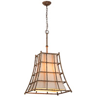 Left Bank 5 Light 22 inch Coastal Rust Pendant Ceiling Light
