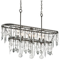 Troy Lighting F3804 Bistro 6 Light 42 inch Graphite Island Ceiling Light