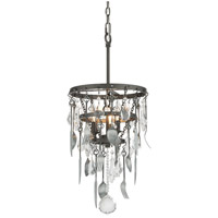 Bistro 3 Light 13 inch Graphite Pendant Ceiling Light