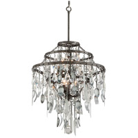 Troy Lighting Bistro 6 Light Chandelier in Graphite with Antique Pewter F3806