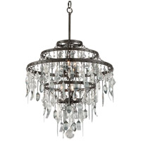 Bistro 6 Light 25 inch Graphite with Antique Pewter Chandelier Ceiling Light