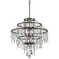 Troy Lighting Bistro 9 Light Chandelier in Graphite with Antique Pewter F3809