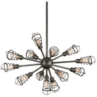 Troy Lighting F3815 Conduit 13 Light 32 inch Old Silver Pendant Ceiling Light