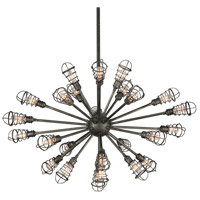 Troy Lighting Conduit 25 Light Pendant in Old Silver F3816