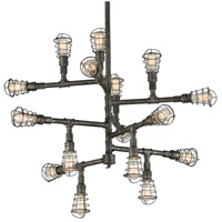 Troy Lighting F3818 Conduit 16 Light 42 inch Old Silver Chandelier Ceiling Light photo thumbnail