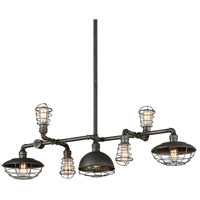 Troy Lighting Conduit 7 Light Island Pendant in Old Silver F3819