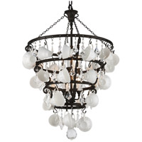 Barista 8 Light 30 inch Vintage Bronze Chandelier Ceiling Light