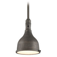 Troy Lighting Telegraph Hill 1 Light Outdoor Pendant in Aged Pewter F3866