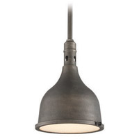 Troy Lighting Telegraph Hill 1 Light Outdoor Pendant in Aged Pewter F3867
