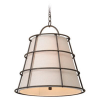 Troy Lighting Habitat 3 Light Pendant in Liberty Rust F3903