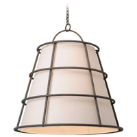 Troy Lighting Habitat 8 Light Pendant in Liberty Rust F3908