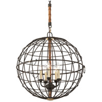 Troy Lighting Latitude 4 Light Pendant in Liberty Rust F3935