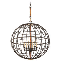 Latitude 5 Light 30 inch Liberty Rust Pendant Ceiling Light