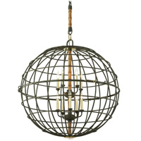 Troy Lighting Latitude 8 Light Pendant in Liberty Rust F3937