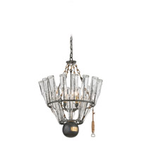 Troy Lighting 121 Main 4 Light Chandelier in Old Silver with Brass F3944