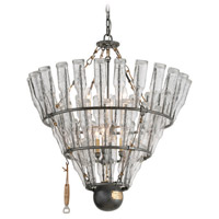 Troy Lighting 121 Main 6 Light Chandelier in Old Silver with Brass F3946