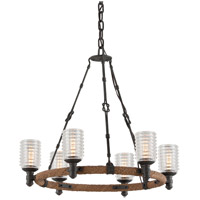 Troy Lighting F4155 Embarcadero 6 Light 25 inch Chandelier Ceiling Light