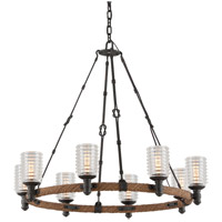 Troy Lighting F4156 Embarcadero 8 Light 30 inch Chandelier Ceiling Light