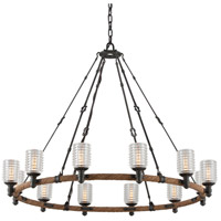 Troy Lighting F4157 Embarcadero 12 Light 42 inch Chandelier Ceiling Light