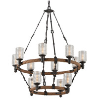 Troy Lighting F4158 Embarcadero 12 Light 30 inch Chandelier Ceiling Light