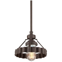 Troy Lighting Canary Wharf 1 Light Pendant in Burnt Sienna F4243