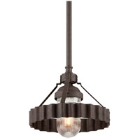 Troy Lighting Canary Wharf 1 Light Pendant in Burnt Sienna F4244