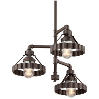 Troy Lighting Canary Wharf 3 Light Dining Pendant in Burnt Sienna F4246