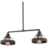 Troy Lighting Canary Wharf 2 Light Island Pendant in Burnt Sienna F4248