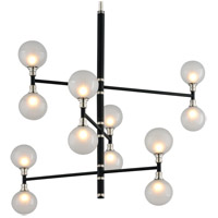Troy Lighting F4826 Andromeda 12 Light 42 inch Carbide Black and Polished Nickel Pendant Ceiling Light