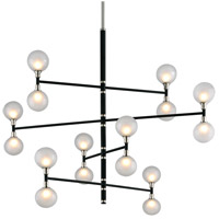 Andromeda 16 Light 56 inch Carbide Black and Polished Nickel Pendant Ceiling Light