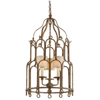 Carousel 3 Light 18 inch Provence Bronze Pendant Ceiling Light