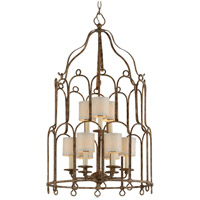 Troy Lighting Carousel - Pendant - 9 Light - Provence Bronze Finish - Hardback Linens F4836