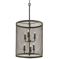 Troy Lighting F4846 Village Tavern 6 Light 18 inch Old Tavern Iron Pendant Ceiling Light