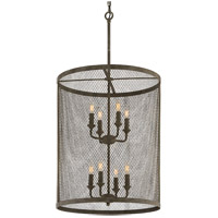 Troy Lighting F4847 Village Tavern 8 Light 22 inch Old Tavern Iron Pendant Ceiling Light