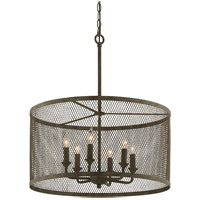Village Tavern 6 Light 25 inch Old Tavern Iron Pendant Ceiling Light