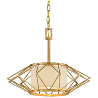 Troy Lighting Calliope - Pendant - 18 inchW - Rustic Gold Leaf Finish - Hardback Linen F4863