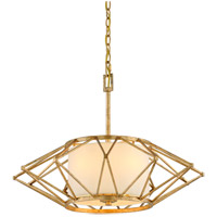 Calliope 4 Light 26 inch Rustic Gold Leaf Pendant Ceiling Light