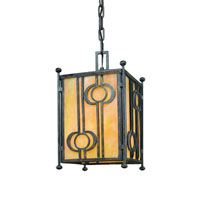 Troy Lighting Aberdeen 1 Light Outdoor Hanging Lantern in Fired Iron F5037FI