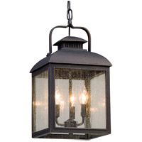 Troy Lighting F5087 Chamberlain 3 Light 10 inch Vintage Bronze Outdoor Pendant