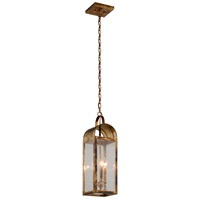 Bostonian 3 Light 7 inch Historic Brass Outdoor Pendant