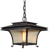 Grammercy 1 Light 12 inch Forged Iron Outdoor Pendant