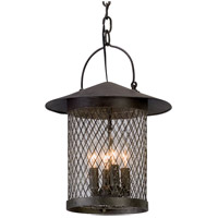 Altamont 4 Light 12 inch French Iron Outdoor Pendant