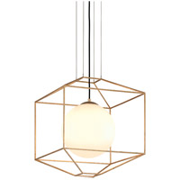 Troy Lighting Silhouette - 52x4 Pendant - Gold Leaf Finish - Gloss Opal Glass F5214