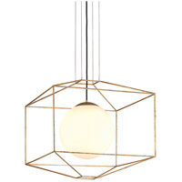 Troy Lighting F5215 Silhouette 1 Light 25 inch Gold Leaf Pendant Ceiling Light