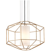 Troy Lighting F5216 Silhouette 1 Light 26 inch Gold Leaf Pendant Ceiling Light