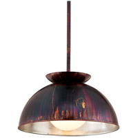 Library 1 Light 28 inch Copper Patina Exterior with Silver Leaf Interior Pendant Ceiling Light